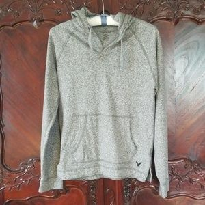 American Eagle Outfitters sz S gray hoodie pockets